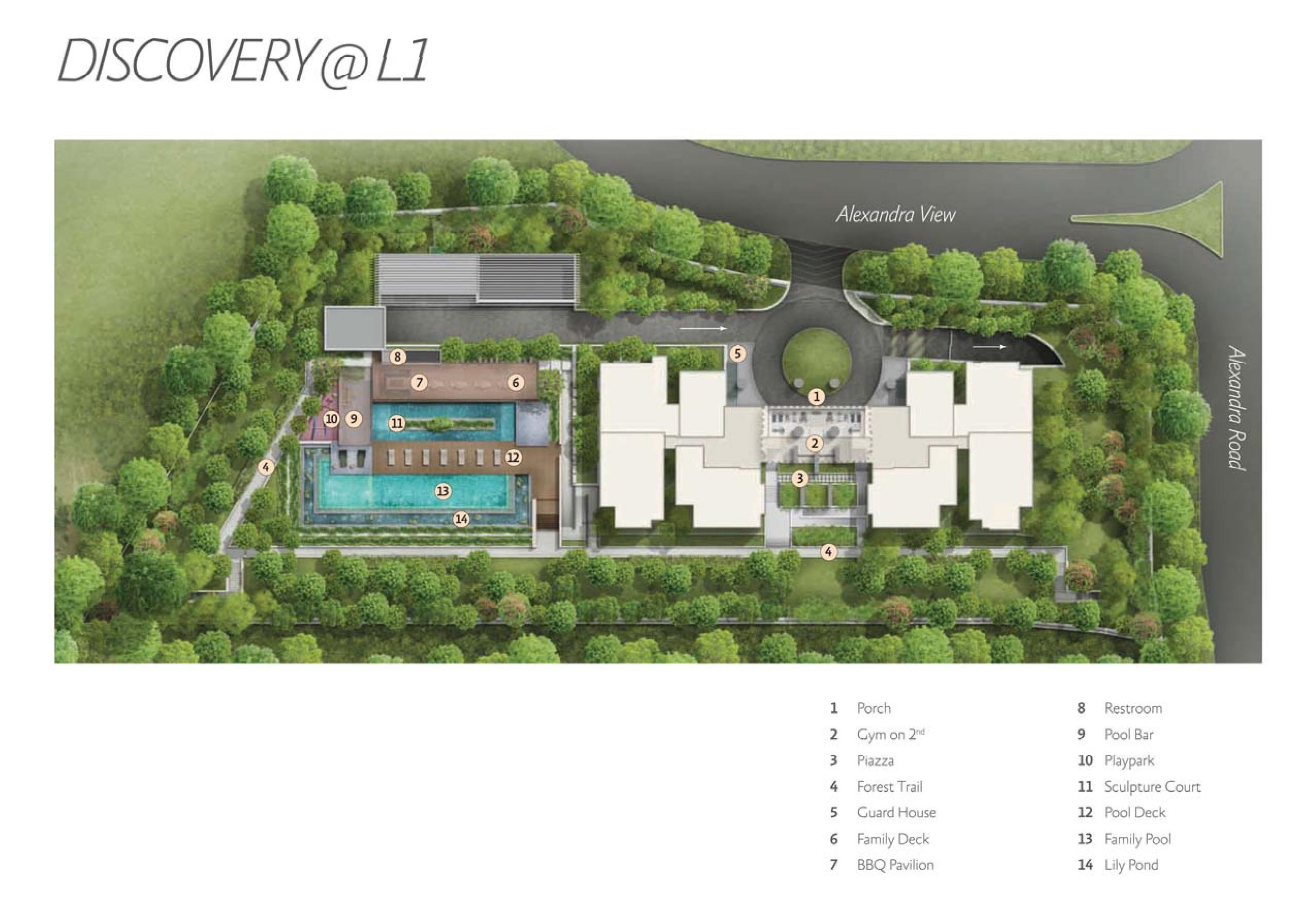 Alex Residences Level 1 Site Map