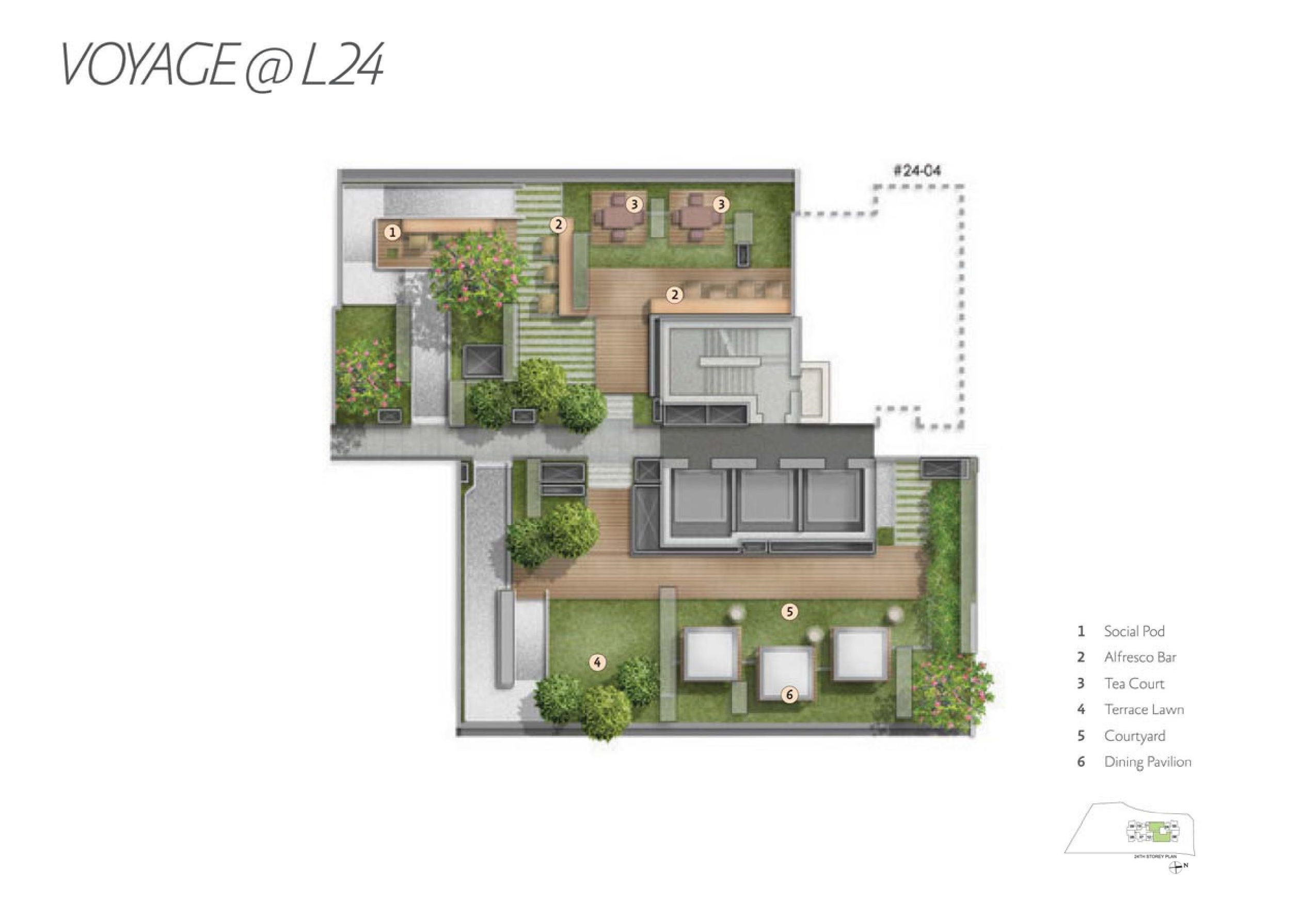 Alex Residences Level 24 Site Map