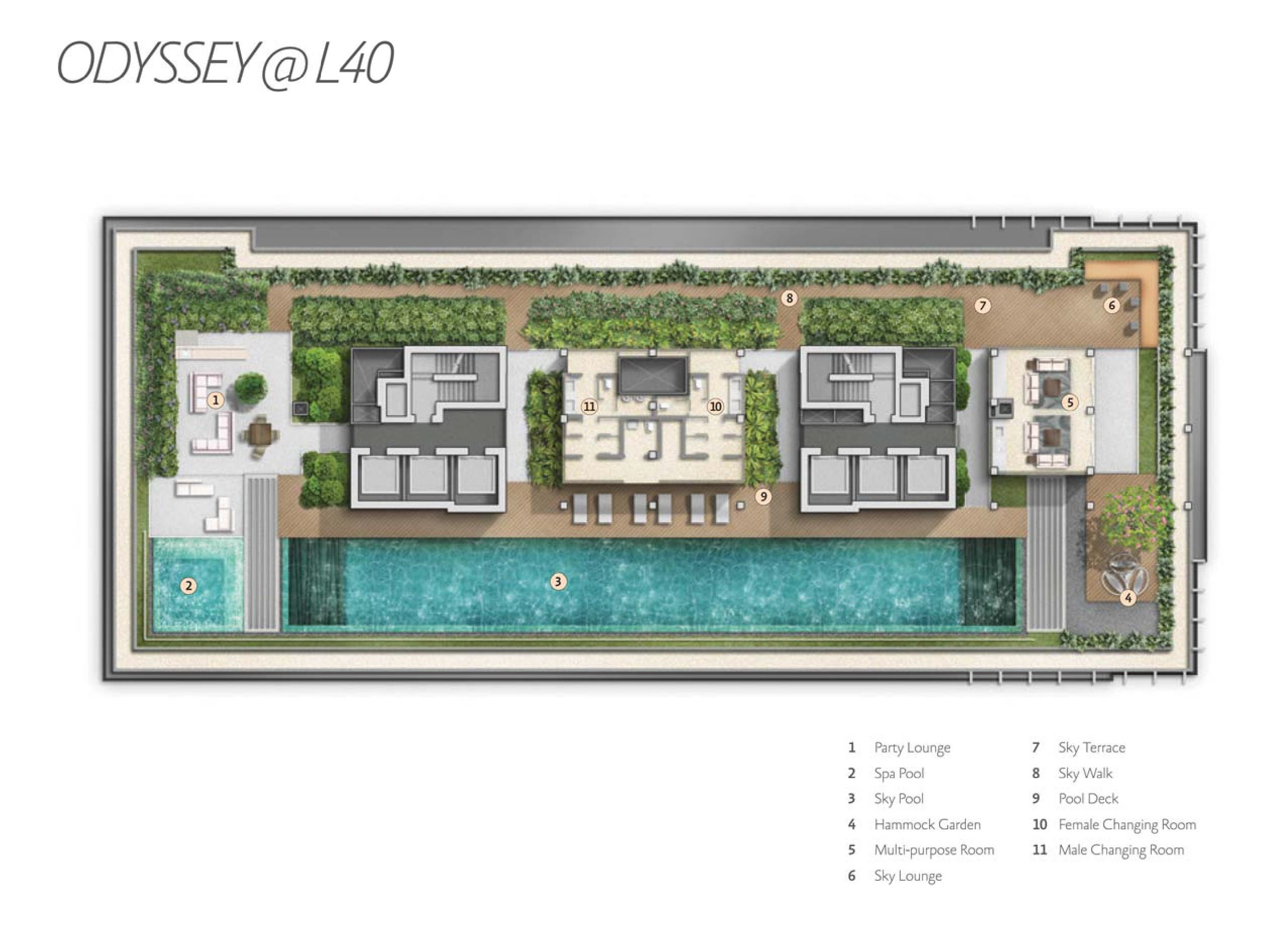 Alex Residences Level 40 Site Map
