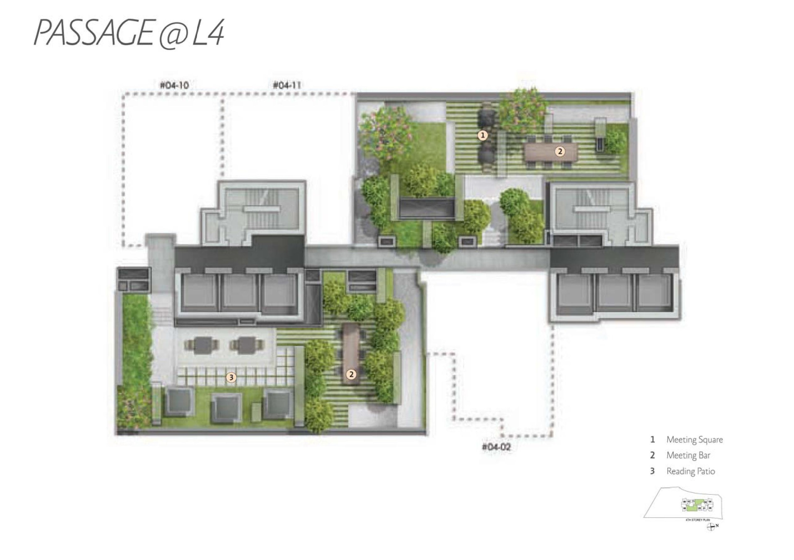 Alex Residences Level 4 Site Map